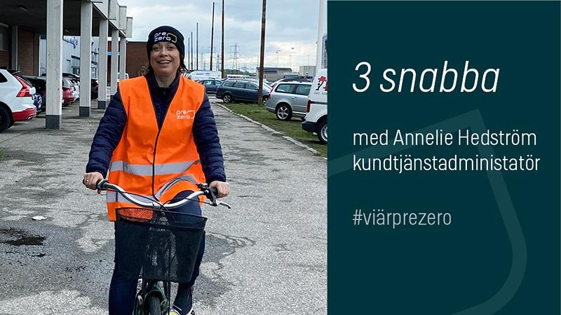 Annelie Hedström kundtjänstadministratör PreZero