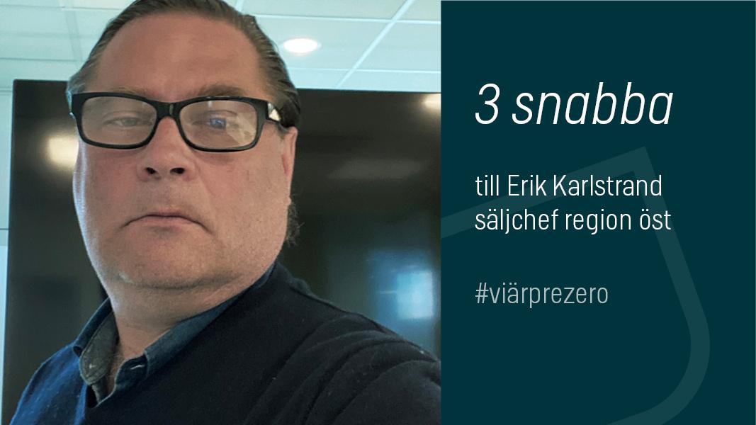Erik Karlstrand säljchef PreZero