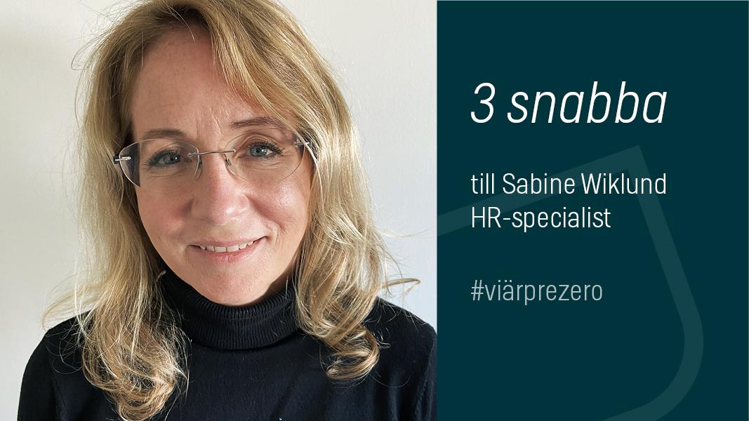 Sabine Wiklund HR-specialist PreZero